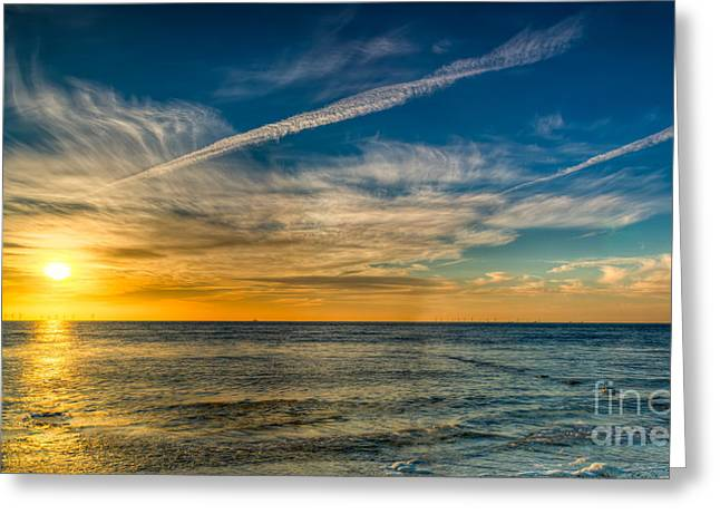 Vapor Trail Greeting Card by Adrian Evans