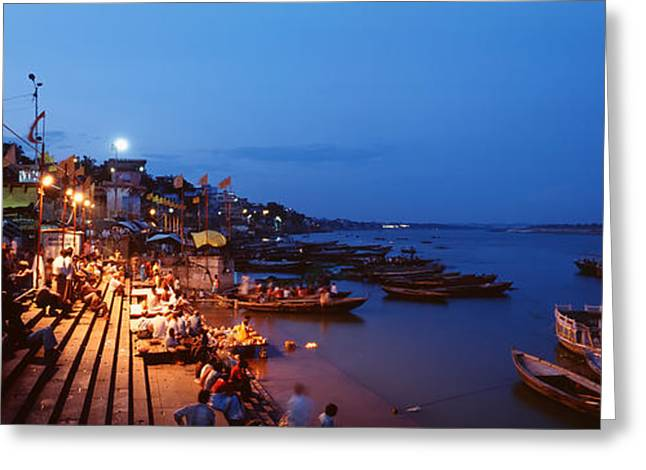 Varanasi, India Greeting Card by Panoramic Images