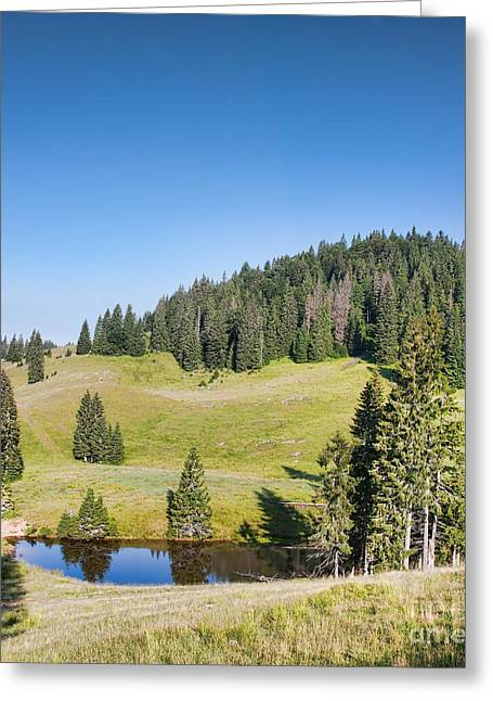 Carpathian Mountains Greeting Cards - Varasoia Lake Greeting Card by Gabriela Insuratelu
