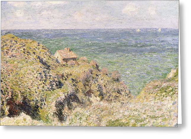 The Edge Greeting Cards - Varengeville Gorge Greeting Card by Claude Monet