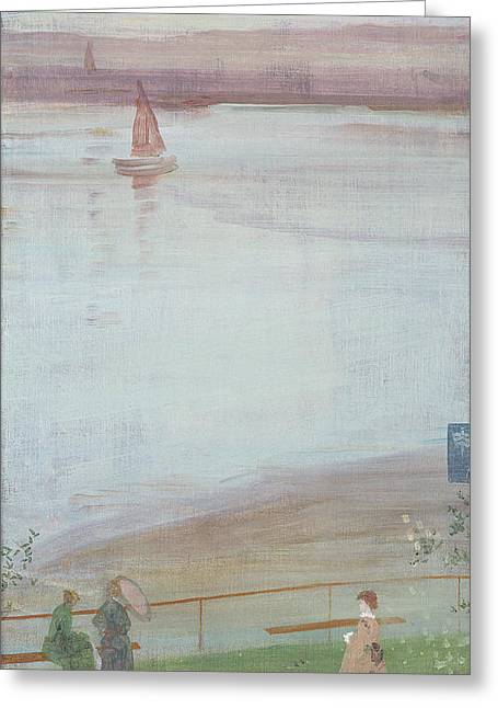 Sailing Boat Greeting Cards - Variations In Violet And Green, 1871 Oil On Canvas Greeting Card by James Abbott McNeill Whistler