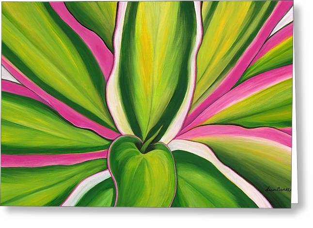 Lisa Bentley Greeting Cards - Variegated Delight Painting Greeting Card by Lisa Bentley
