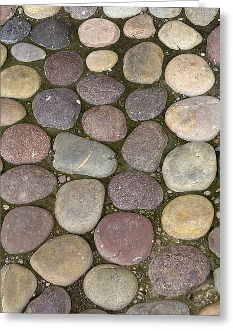 Stone Ground Greeting Cards - Various Colored Stones On The Ground Greeting Card by Keith Levit