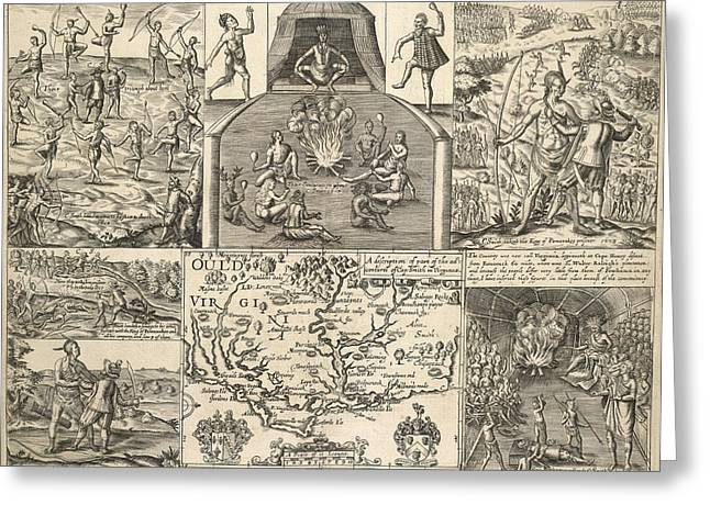 Various Scenes In Virginia Greeting Card by British Library