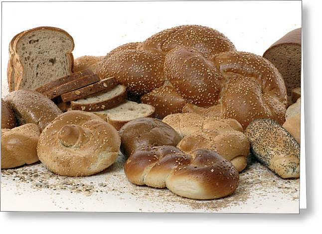 Wholewheat Greeting Cards - Various types of bread Greeting Card by Shahar Tamir