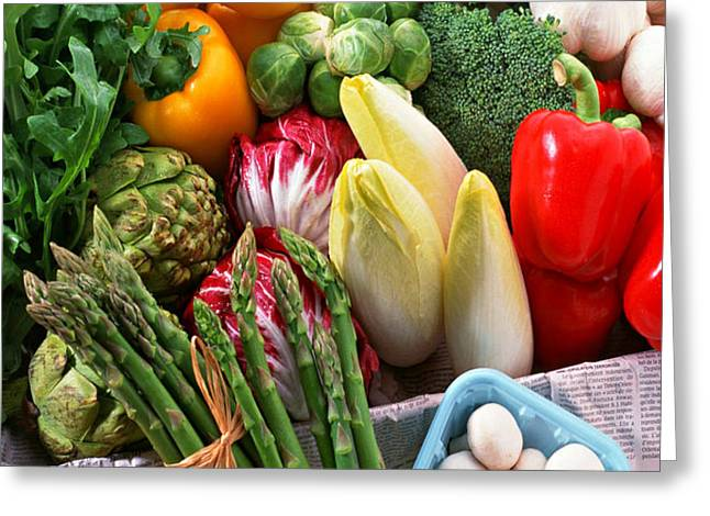 Various Vegetables Greeting Card by Lanjee Chee