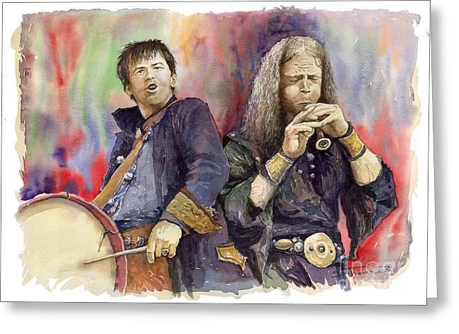 Watercolour Paintings Greeting Cards - Varius Coloribus 2 Greeting Card by Yuriy  Shevchuk