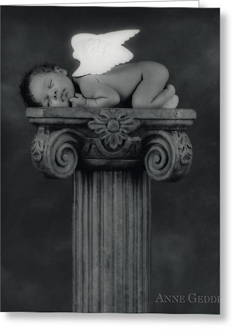 Classic Collection Greeting Cards - Varjanare as an Angel Greeting Card by Anne Geddes