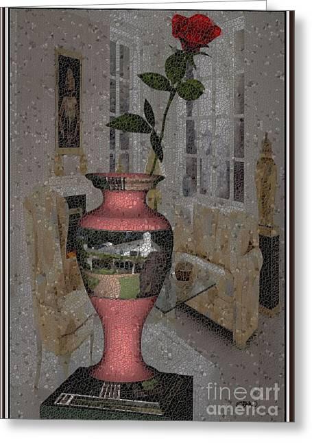 Pemaro Greeting Cards - vase 1V1 Greeting Card by Pemaro