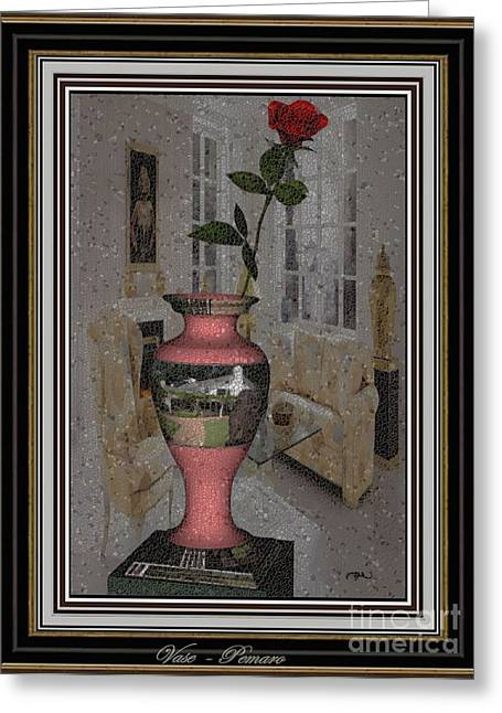 Pemaro Greeting Cards - vase 1V2 Greeting Card by Pemaro
