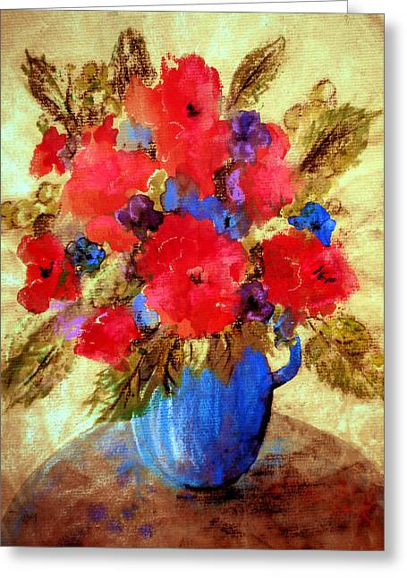 Kelly Greeting Cards - Vase of delight Greeting Card by Valerie Anne Kelly