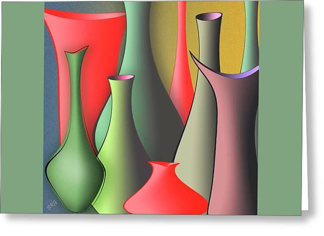 Raisa Gertsberg Digital Greeting Cards - Vases Still Life Greeting Card by Ben and Raisa Gertsberg