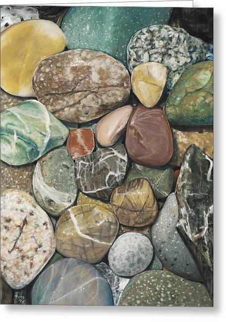 Vashon Island Beach Rocks Greeting Card by Nick Payne