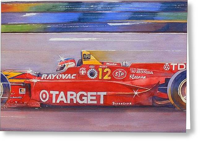 Indy Car Greeting Cards - Vasser Greeting Card by Robert Hooper