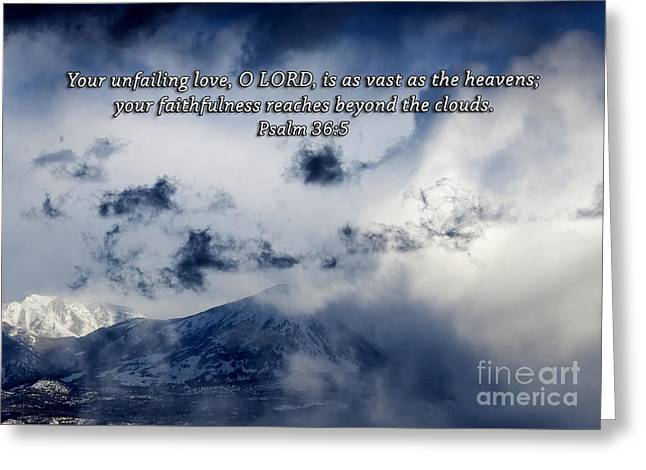 Powder Greeting Cards - Vast As The Heavens Greeting Card by Janice Rae Pariza
