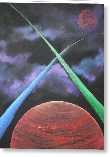 Kpl Greeting Cards - Vast Cosmos Greeting Card by Kathy Peltomaa Lewis