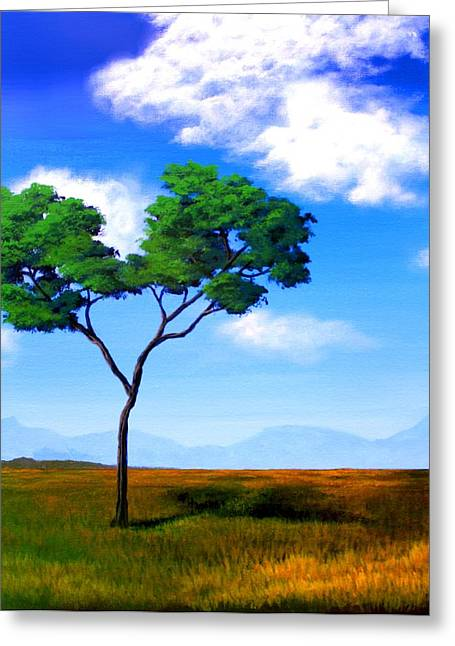 Clouds Greeting Cards - Vast Expanses Greeting Card by Erin Scott