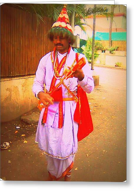 Vasudeva Greeting Cards - Vasudev Greeting Card by Mannoj Umale