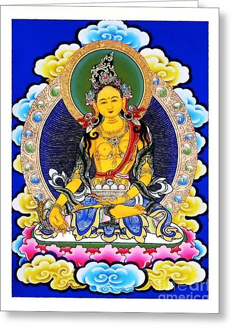 Culture Greeting Cards - Vasudhara 1 Greeting Card by Lanjee Chee