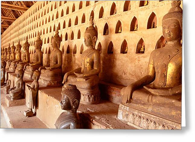 Southeast Asia Greeting Cards - Vat Si Saket, Vientiane, Laos Greeting Card by Panoramic Images