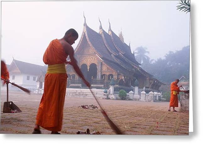 Capitol Greeting Cards - Vat Xieng Thong, Luang Prabang, Laos Greeting Card by Panoramic Images