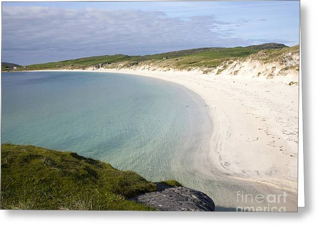 Beautiful Scenery Greeting Cards - Vatersay Bay Barra Outer Hebrides Scotland Greeting Card by Ian Murray