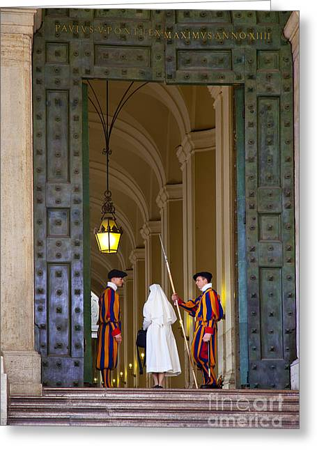 Entryway Greeting Cards - Vatican Entrance Greeting Card by Brian Jannsen