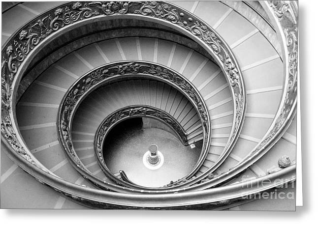 Kansas City Photographer Greeting Cards - Vatican Spiral Greeting Card by Crystal Nederman