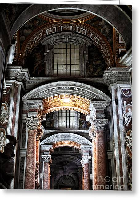 Peter Art Prints Posters Gallery Greeting Cards - Vaticano Greeting Card by John Rizzuto