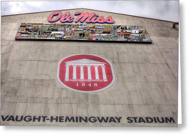 Sec Greeting Cards - Vaught Hemmingway Stadium Greeting Card by JC Findley