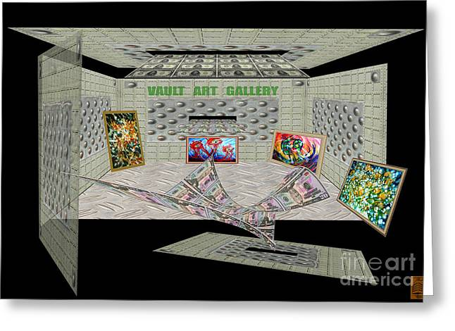 Photo Manipulation Paintings Greeting Cards - Vault Art Gallery Greeting Card by Dariush Alipanah- Jahroudi