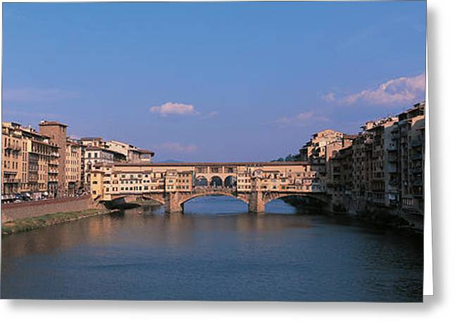 Historic Architecture Greeting Cards - Vecchio Bridge Florence Italy Greeting Card by Panoramic Images
