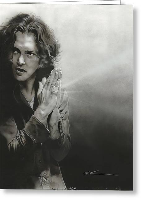 Eddie Greeting Cards - Vedder IV Greeting Card by Christian Chapman Art