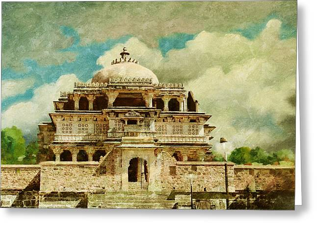 Devi Greeting Cards - Vedi Temple in Kambalgarh Fort Greeting Card by Catf