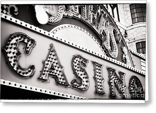 Las Vegas Artist Greeting Cards - Vegas Casino Greeting Card by John Rizzuto