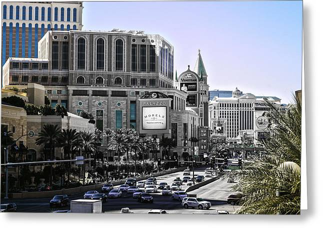 Thrive Greeting Cards - Vegas Fading Greeting Card by Camille Lopez