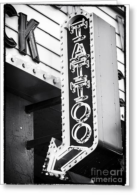 Las Vegas Artist Greeting Cards - Vegas Tattoo Greeting Card by John Rizzuto