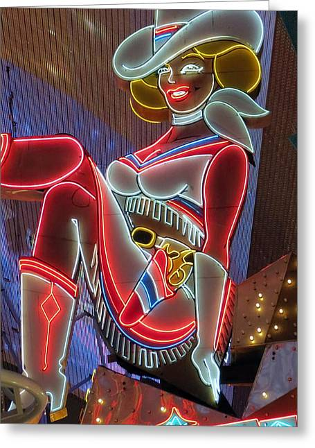 Kkphoto1 Greeting Cards - Vegas Vicky Greeting Card by Kay Novy