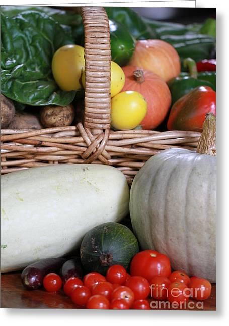Vegetable Basket Greeting Card by Kelly Jones