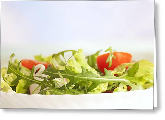 Mythja Greeting Cards - Vegetable salad Greeting Card by Mythja  Photography