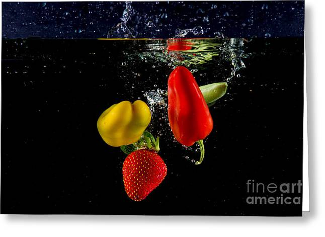 Dunk Greeting Cards - Vegetable Soup for the Soul Greeting Card by Rene Triay Photography