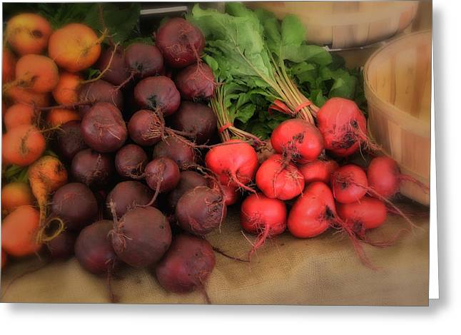 Farm Stand Greeting Cards - Vegetables Greeting Card by Dennis James