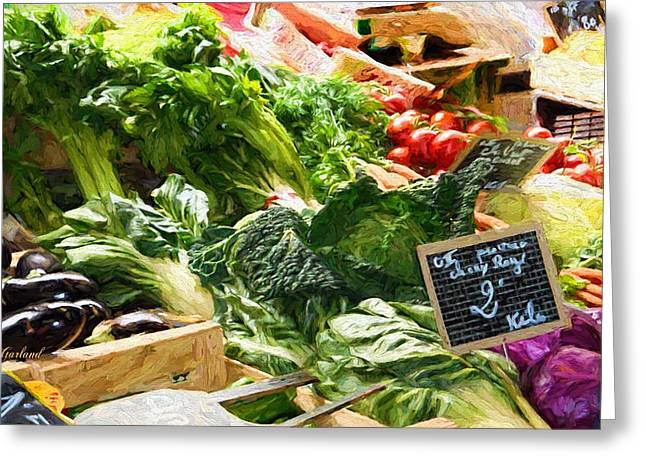 Vegetables For Sale  Greeting Card by Garland Johnson
