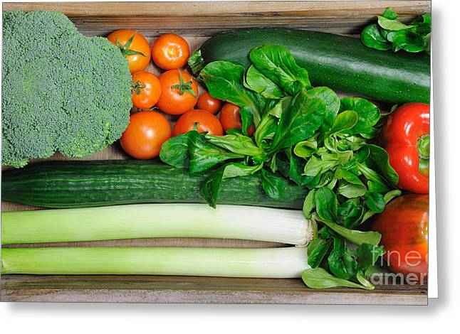 Broccoli Greeting Cards - Vegetables Greeting Card by Jana Behr