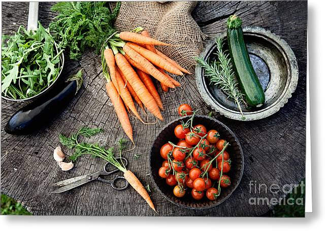 Broccoli Greeting Cards - Vegetables Greeting Card by Mythja  Photography