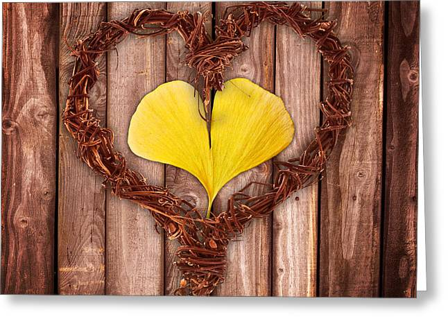 Mother Gift Greeting Cards - Vegetal hearts Greeting Card by Delphimages Photo Creations