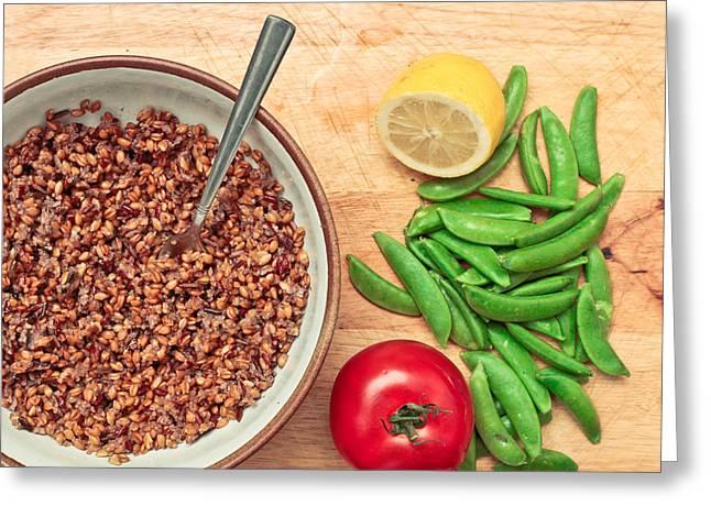 Barley Greeting Cards - Vegetarian food Greeting Card by Tom Gowanlock