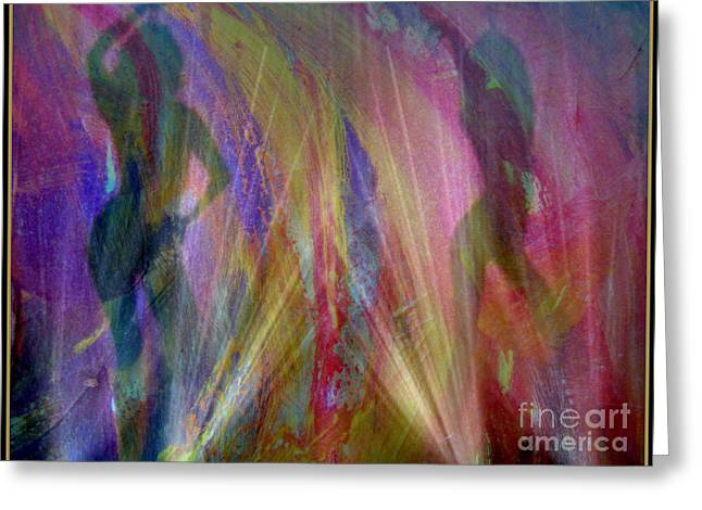 Veil Of Seduction Greeting Card by Irma BACKELANT GALLERIES