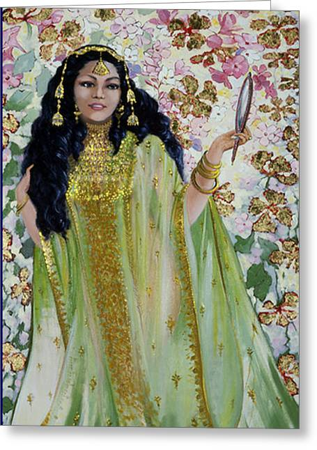 Woman In A Dress Greeting Cards - Veils 2 Greeting Card by Silvia  Duran