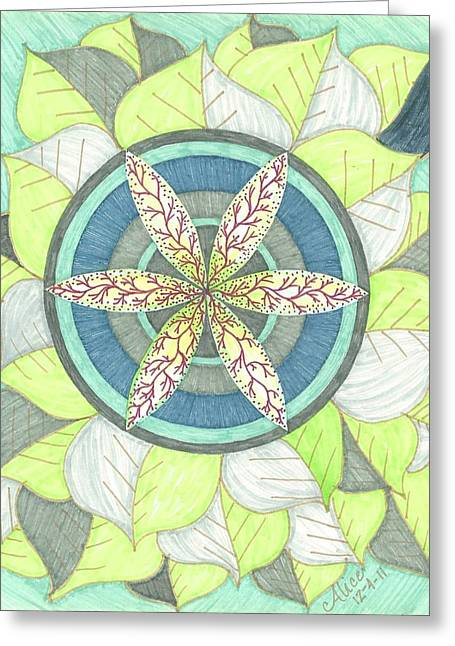 Veins Drawings Greeting Cards - Veins of Life Greeting Card by Ali Rush